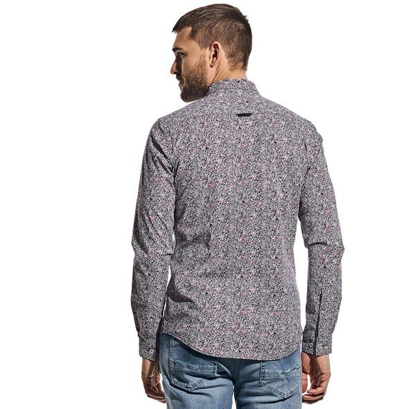 Langarm-Print Hemd