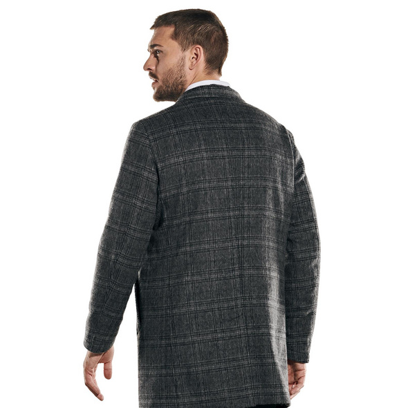 Mantel dezent kariert