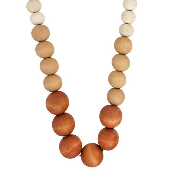 Kette - Wood Pearls
