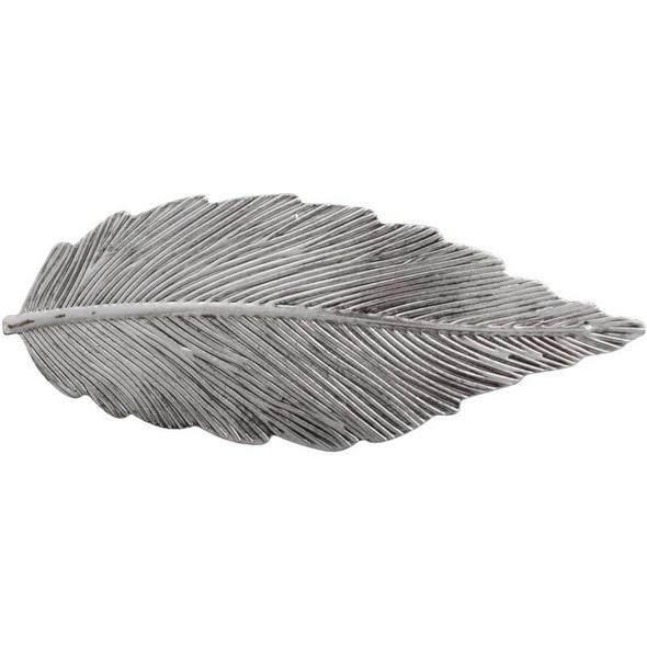 Haarspange - Silberblatt