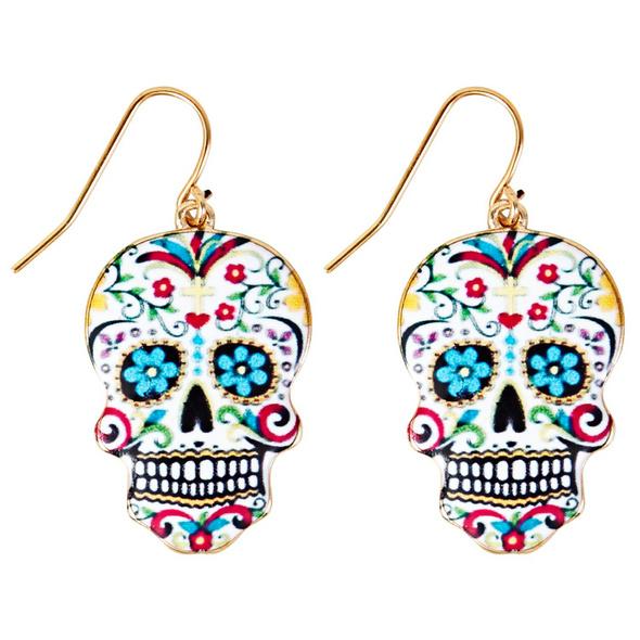 Ohrhänger - Colourful Skull
