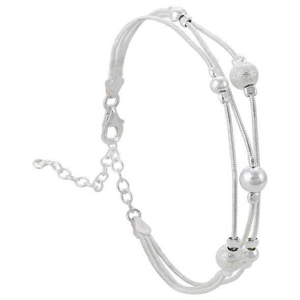Armband - Silver Cut