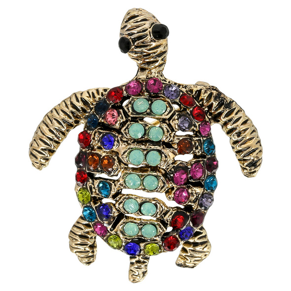 Brosche -  Sparkling Turtle