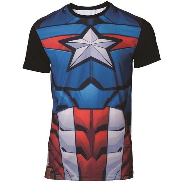Marvel Captain America - T-Shirt (Größe L)
