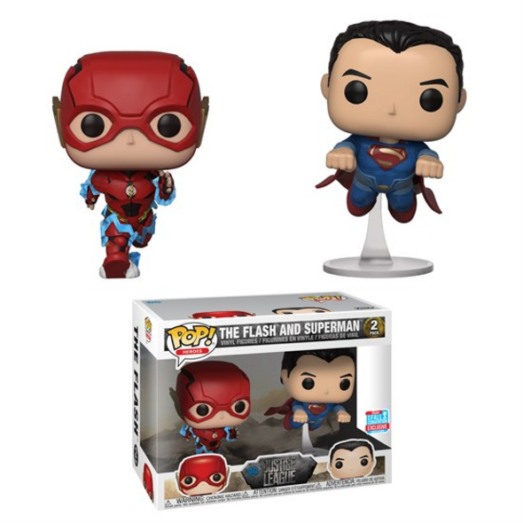 DC Heroes - POP! Vinyl-Figur The Flash and Superman
