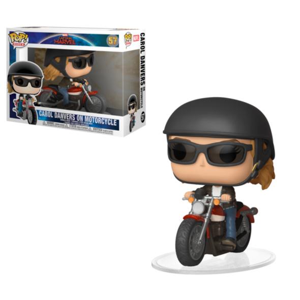 Captain Marvel - POP!-Vinyl Figur Carol Danvers auf Motorrad
