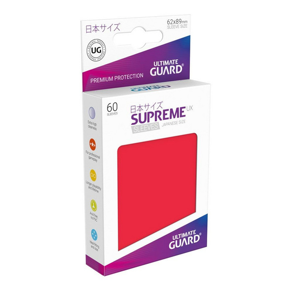 Ultimate Guard Supreme UX Sleeves Japanische Größe Rot