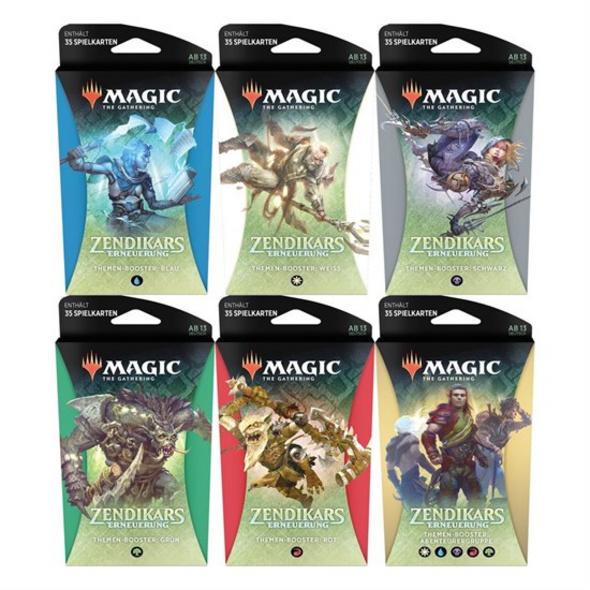 Magic the Gathering: Zendikars Erneuerung Themen Booster 1 von 6 Packs (zufällige Auswahl)