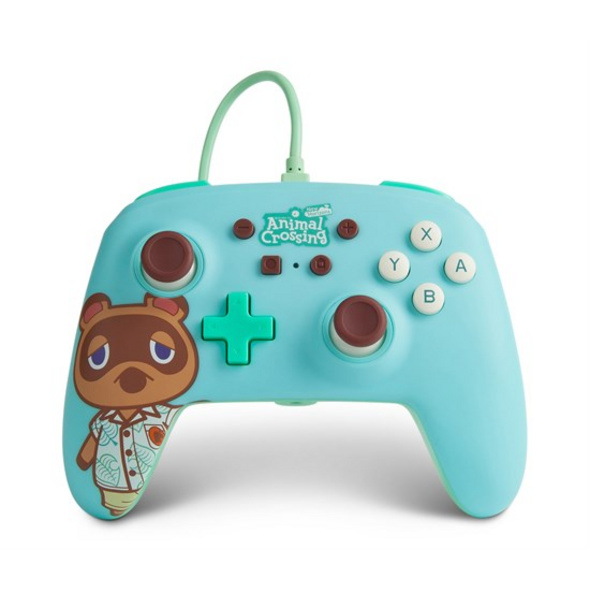 Nintendo Switch PowerA Wired Controller Animal Crossing Tom Nook