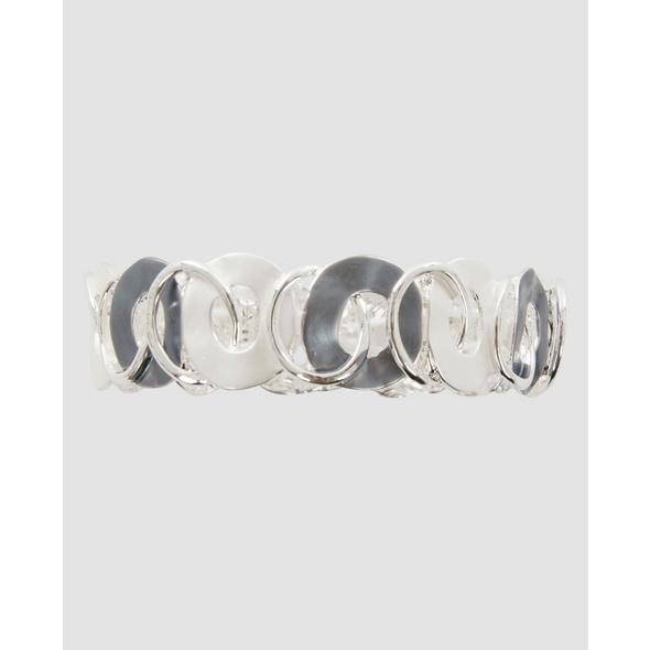 Silbernes Armband mit Kreisen