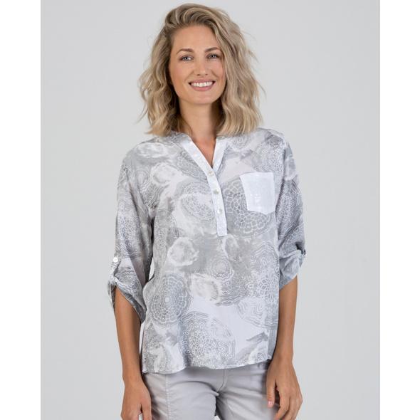Viskose-Bluse mit Mandalaprint