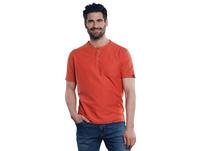 Henley T-Shirt in Rippoptik