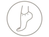 Fußkette - Silver White