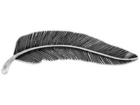 Brosche - Fancy Feather