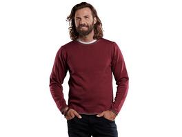 sportiver Pullover in dezenter Zweifarbigkeit