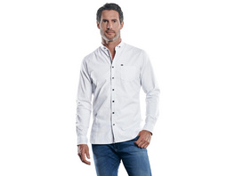 Gemustertes Langarmhemd mit stylischem Button-Down-Kragen