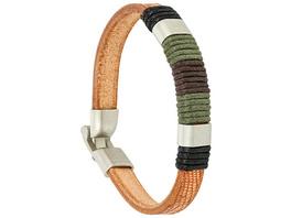Herren Armband - Leather Whril